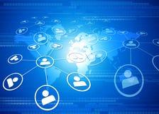 企业全球网络 图库摄影