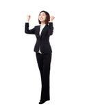 企业全长成功赢利地区妇女 免版税库存照片
