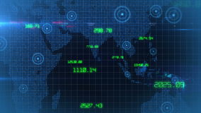 企业公司数据世界财政储蓄数据背景圈