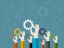 企业共同作用 向量例证