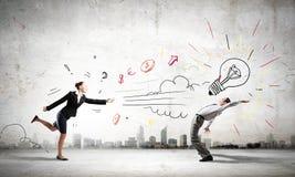 企业冲突 库存照片