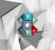 企业几何选择跨步infographics 图库摄影