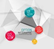 企业几何选择跨步infographics 免版税库存照片