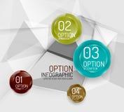 企业几何选择跨步infographics 库存图片
