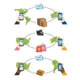 企业出售和交付概念 免版税库存图片