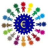 企业创新在欧洲 免版税库存图片
