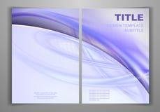 企业前面和后面飞行物模板 免版税图库摄影