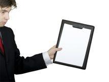 企业剪贴板藏品人 图库摄影