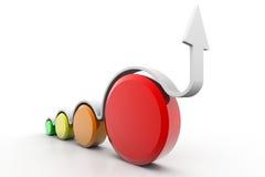 企业动态图形宏指令销售额 库存图片