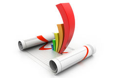 企业动态图形宏指令销售额 库存照片