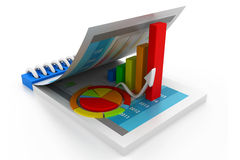 企业动态图形宏指令销售额 免版税库存照片