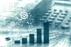 企业动态图形宏指令销售额 免版税图库摄影