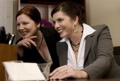 企业动态妇女 库存照片