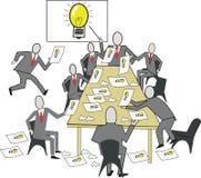 企业动画片想法 免版税库存图片
