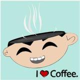 企业动画片,咖啡synbol 免版税库存图片