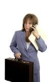企业劳累过度的妇女 免版税库存图片