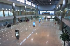 企业博览会大厅 库存照片