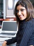 企业印地安人妇女 免版税图库摄影