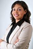 企业印地安人微笑的成功的妇女 库存图片