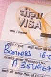企业印地安人签证 免版税库存图片