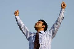 企业印第安人成功的年轻人 库存照片