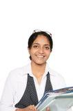 企业印第安妇女年轻人 免版税库存照片