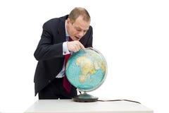 企业发现全球 免版税库存照片