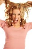 企业叫喊的妇女 免版税库存图片