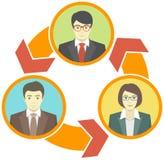 企业合作概念 库存例证