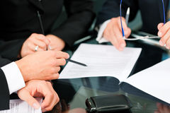 企业合同会议工作 免版税图库摄影