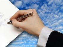 企业合同签名 库存照片