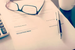 企业合同 免版税库存图片