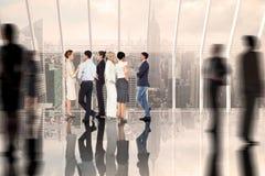 企业同事谈话的综合图象 免版税库存照片