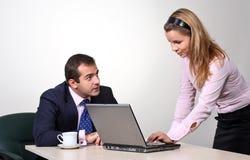 企业同事 免版税库存照片