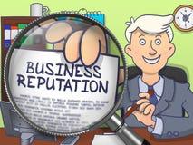 企业名誉通过放大器 乱画样式 向量例证