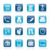 企业和办公室图标 图库摄影