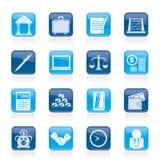 企业和办公室图标 免版税库存照片