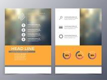 企业和技术小册子设计模板传染媒介 库存照片