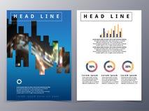 企业和技术小册子设计模板传染媒介 免版税库存图片