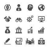 企业和管理象设置了2,传染媒介eps10 库存例证