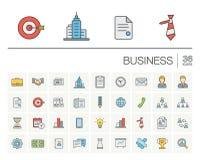 企业和管理颜色传染媒介象 图库摄影