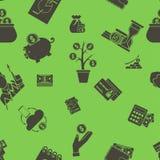 企业和财务无缝的样式 库存照片