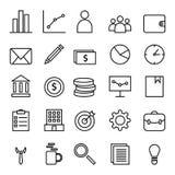 企业和财务网象设置了与概述样式象汇集 库存例证