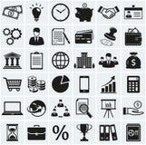 企业和财务图标 动画片重点极性集向量 免版税库存图片