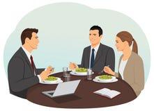 企业咖啡杯方便问题午餐开张了 向量例证