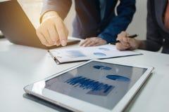 企业咨询项目的队会议 免版税库存照片