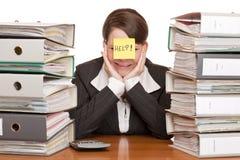 企业啼声desperated ist办公室妇女 免版税库存图片