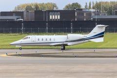 企业喷气机乘出租车 免版税库存照片