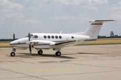 企业喷气机停放了专用 免版税库存照片
