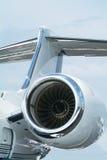企业喷气机后方 免版税库存照片